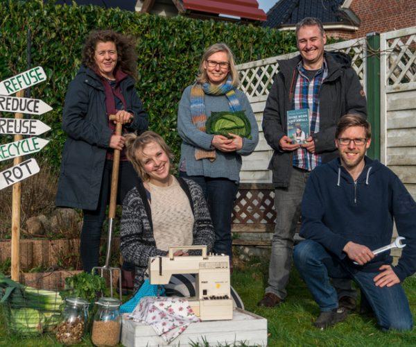 Der Vorstand von links: Ute, Nele, Priska, Dirk, Tobias